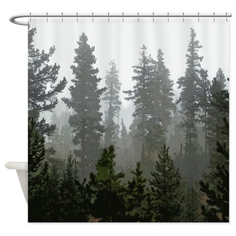Pine Forest Shower Curtain By Saltypro Shop