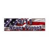 9/11 Never Forget Car Magnet 10 x 3