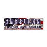 I'm Republican Car Magnet 10 x 3