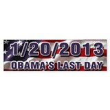 Obama's Last Day Bumper Sticker