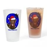 SANTA PAWS Chessie Drinking Glass