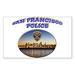 SFPD Skyline Sticker (Rectangle 50 pk)