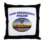 SFPD Skyline Throw Pillow