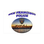 SFPD Skyline 38.5 x 24.5 Wall Peel