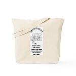 PONDERING RETIREMENT Tote Bag