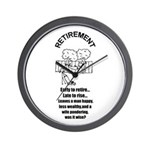 PONDERING RETIREMENT Wall Clock