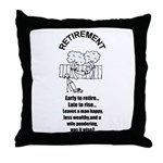 PONDERING RETIREMENT Throw Pillow