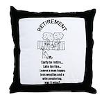 PONDERING RETIREMENT Throw Pillow