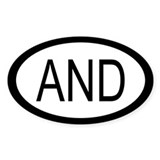 Andorra Car Sticker / Decal (Oval)