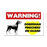 Doberman Pinscher Car Magnet 20 x 12