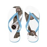 Italian Greyhound art Flip Flops