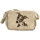 Italian Greyhound art Messenger Bag