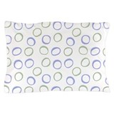 Painted Circles Lavender Pillow Case