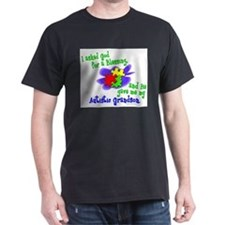 -Asked God for Blessing Autistic Grandson T-Shirt