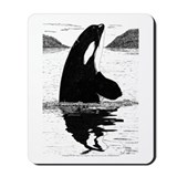 Spy-Hopping Killer Whale Mousepad