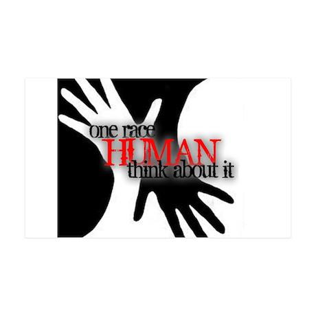 ONE RACE: HUMAN 38.5 x 24.5 Wall Peel