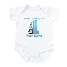 1st Birthday Penguin Infant Bodysuit