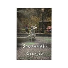 Savannah GA greening Rectangle Magnet