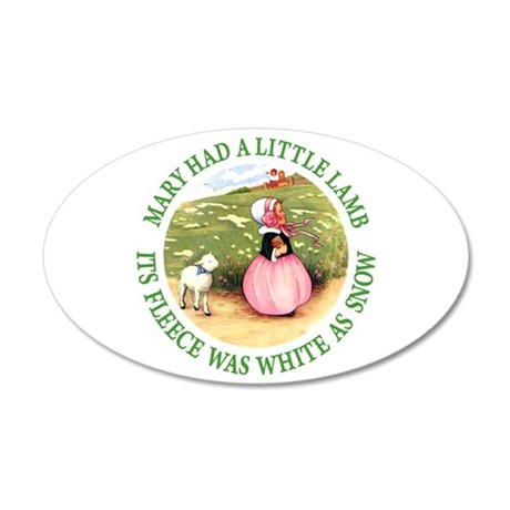 Mary Had A Little Lamb 20x12 Oval Wall Decal