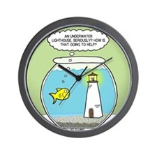 OTL Fishbowl Lighthouse Wall Clock