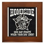 Chicago PD Homicide Framed Tile