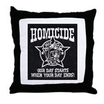 Chicago PD Homicide Throw Pillow