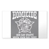 Chicago PD Homicide Rectangle Decal