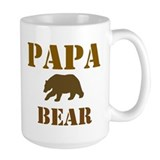 Papa Mama Baby Bear Ceramic Mugs
