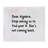 Dear Algebra Throw Blanket