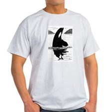 SpyHopping Killer Whale Ash Grey T-Shirt
