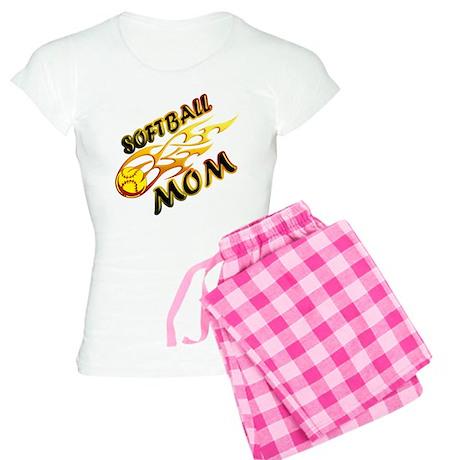 Softball Mom (flame) Women's Light Pajamas
