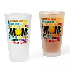 A Softball Mom Drinking Glass