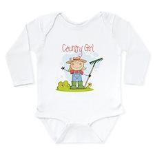 Country Girl Long Sleeve Infant Bodysuit