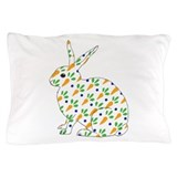 Carrot Calico Rabbit Pillow Case