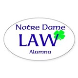 ND LAW Alumna Decal