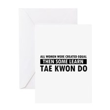 Taekwondo designs Greeting Card