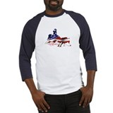 Stars &amp; Stripes Cutting Baseball Jersey