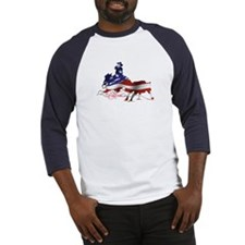 Stars & Stripes Cutting Baseball Jersey