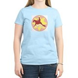 Women's Pink Western T-Shirt Reining