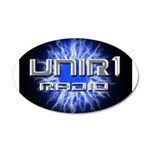 UNIR1 RADIO 22x14 Oval Wall Peel