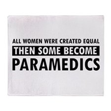 Paramedic design Throw Blanket