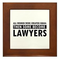Lawyer design Framed Tile