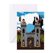 Medieval Knights and Castle Greeting Card