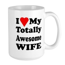 I Heart My Awesome Wife Coffee Mug