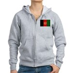 Afghanistan Flag Women's Zip Hoodie