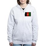 Afghanistan Flag Women's Zip Hoodie