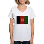 Afghanistan Flag Women's V-Neck T-Shirt