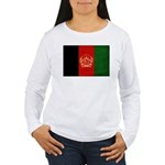Afghanistan Flag Women's Long Sleeve T-Shirt