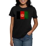 Afghanistan Flag Women's Dark T-Shirt