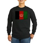 Afghanistan Flag Long Sleeve Dark T-Shirt